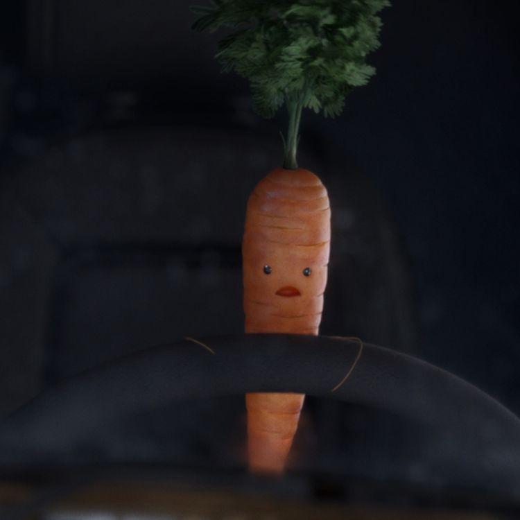 Kevin the carrot alla guida di un bus
